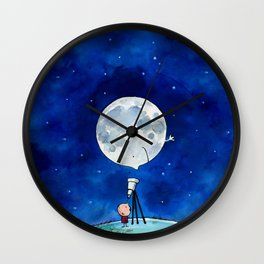 Little astronomer Wall Clock