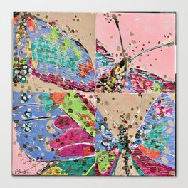 Squared Butterflies Canvas Print