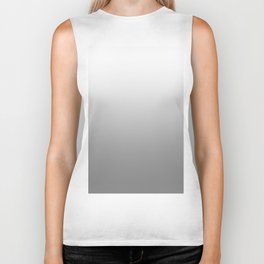 White to Gray Horizontal Linear Gradient Biker Tank