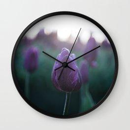 Sunrise Tulips Wall Clock