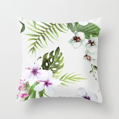 Tropical Serenity #society6 Throw Pillow