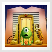 monster inc Art Prints featuring  Monster Inc Mike Wazowski by Thorin