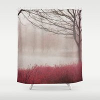 fog Shower Curtains featuring Fog by KunstFabrik_StaticMovement Manu Jobst