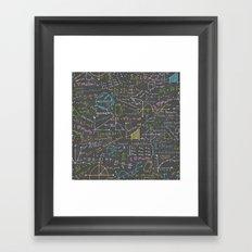 Math Lessons Framed Art Print