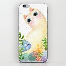 The Aquarium Cat iPhone & iPod Skin