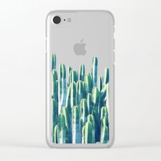 Cactus V2 #society6 #decor #fashion #tech #designerwear Clear iPhone Case