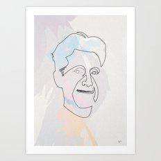 One line Georges Orwell Art Print
