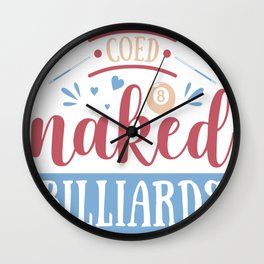 Billiards Clip Art Coed Naked Billiards Wall Clock