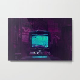 Tokyo Nights / Retro Arcade / Liam Wong Metal Print