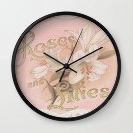 Vintage Lace and Lilies Wall Clock