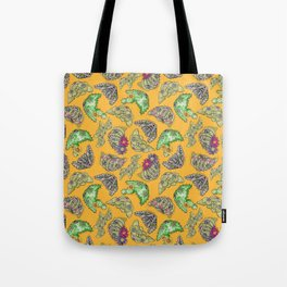 """""""Oro?"""" Cactus with Flower Mustard Tote Bag"""