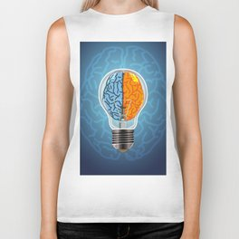 Left and Right Brain, how an idea originated, whether from the left or right brain Biker Tank