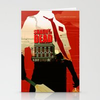 shaun of the dead Stationery Cards featuring Shaun Of The Dead by Duke Dastardly