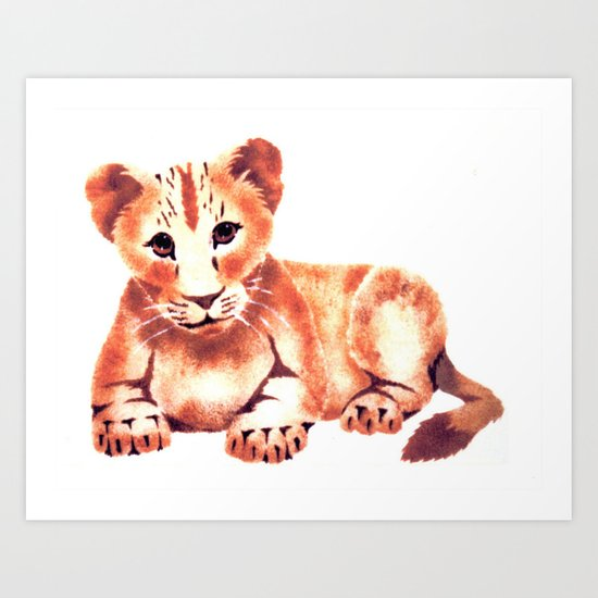Baby Lion Cub Art Print
