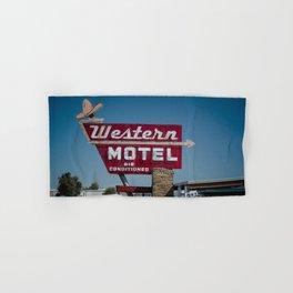 Western Motel on Route 66 Hand & Bath Towel