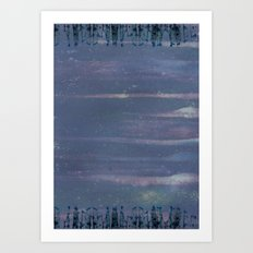Purple City Art Print