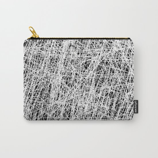 Web Of Confusion - Black and white, abstract painting Carry-All Pouch