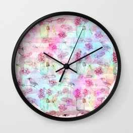Summer pattern - Floral Flowers in pink on #Society6 Wall Clock