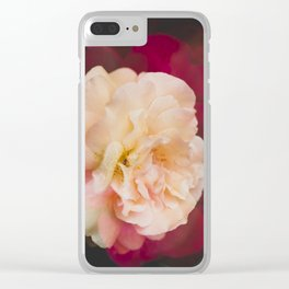 Roses (double exposure) Clear iPhone Case