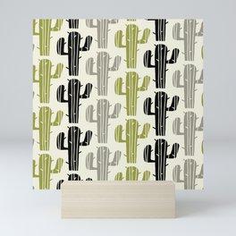 Mid Century Modern Desert Cactus Pattern 872 Mini Art Print