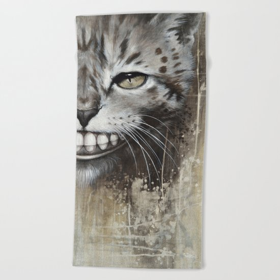 Le chat Beach Towel