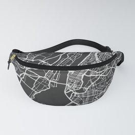 New York City Map Fanny Pack