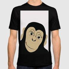 Monkey Illustration  MEDIUM Mens Fitted Tee Black