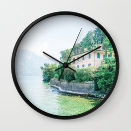 Stunning Villa in Lake Como, Italy Wall Clock