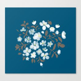 Snowdrops in a bouquet Canvas Print