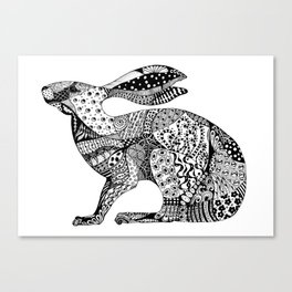 MIllicent The Crouching Hare Canvas Print