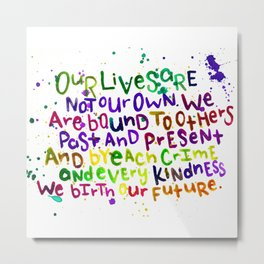 Our Lives Metal Print