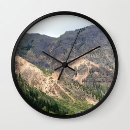 Gold Mines All Along the Animas River Wall Clock