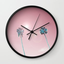 Pastelle Palms #summer vibes Wall Clock