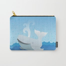 Humpback whale above the ocean waves Carry-All Pouch