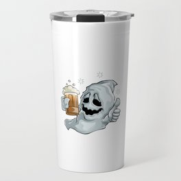 Let The Boos Flow Funny Halloween Horror Scary Travel Mug