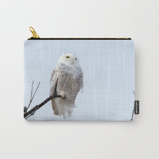 Lofty Vision (Snowy Owl) Carry-All Pouch