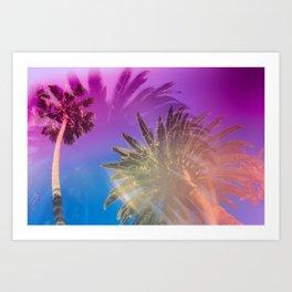 Palm Tree Skyline Art Print