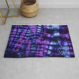 Purple and Blue Shibori Tie Dye Rug