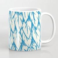 fringe Mugs featuring Feathered Fringe by Joe Van Wetering