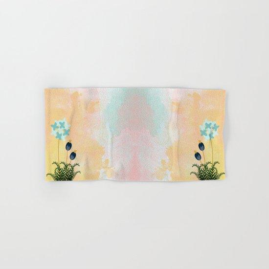 Acuarela Blue Flower 2 Hand & Bath Towel