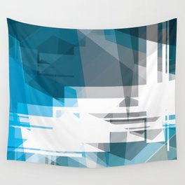 BLUE Abstract Art, Wall Tapestry
