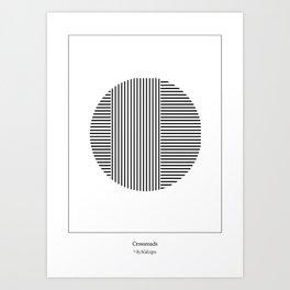 Crossroads Art Print