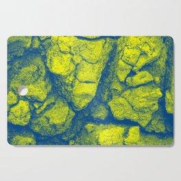 Abstract - in yellow & green Cutting Board
