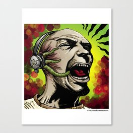 Listen to the Madness Canvas Print