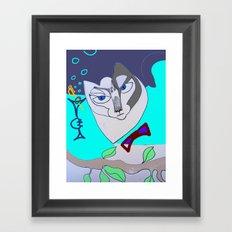 happy mew year! Framed Art Print