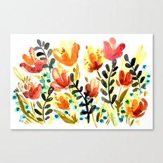 Watercolor Wildflowers Canvas Print
