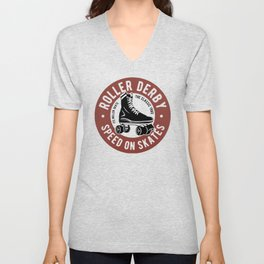 roller derby speed on skates Unisex V-Neck