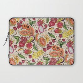 Ready to Eat - Fruit Pattern in White Laptop Sleeve