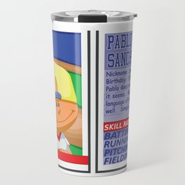 Pablo Sanchez Stat Card -Backyard Baseball Travel Mug