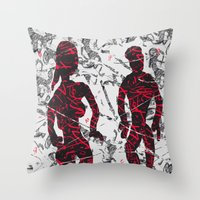 lost in translation Throw Pillows featuring Lost in Translation by andréart